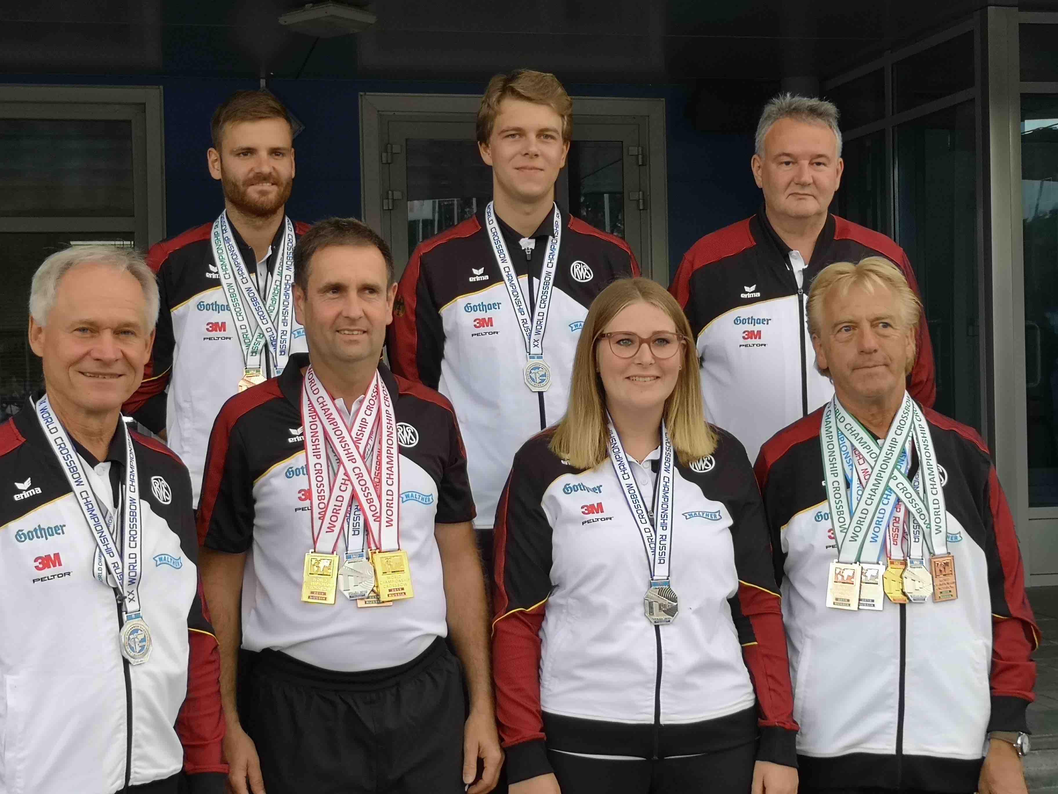Die württembergischen Armbrustschützen kehren alle mit mindestens einer Medaille zurück von der WM in Russland
